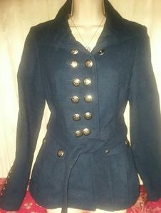 Free People Military Style Pea Coat Size 4